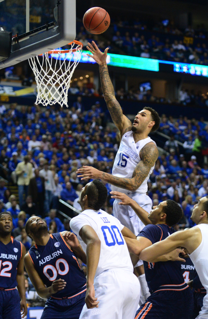 Kentucky's Willie Cauley-Stein scores against Auburn Photos by Mike Strasinger