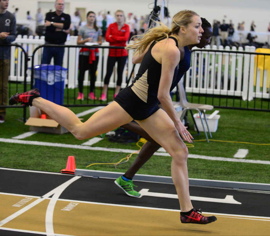 Vanderbilt's Katherine Delaney Wins the 800- Photos by Mike Strasinger