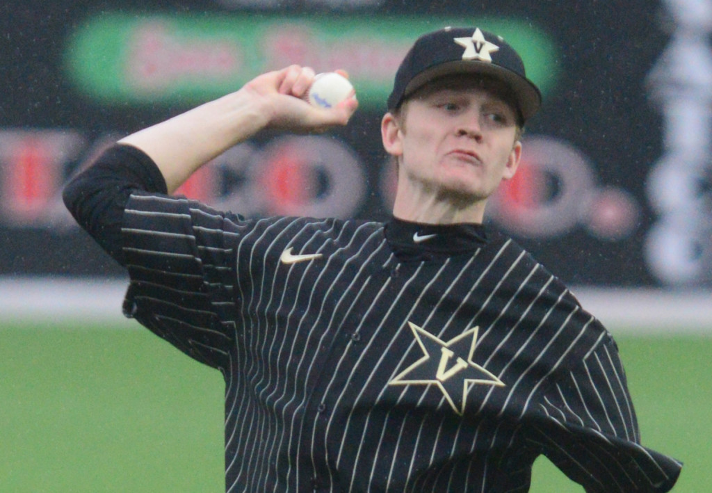 Vanderbilt's Carson Day made his collegiate debut on Tuesday. Photo by Mike Strasinger