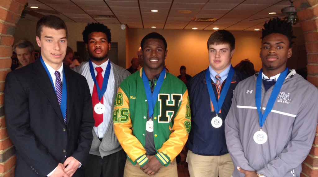 Jacob Webster, CPA, Jaelin Fisher, Pearl-Cohn, Malique Fleming, Hillsboro, Gunnar Pfeffer, NCS, and Larry Wilhoite, FRA
