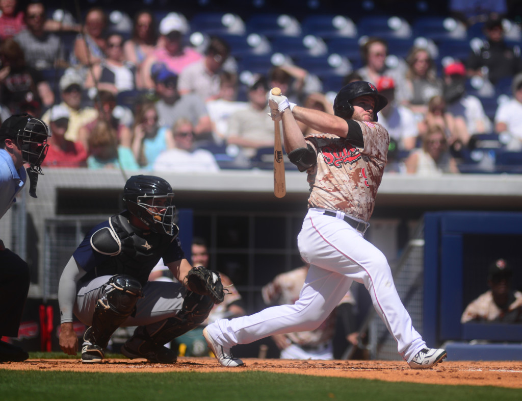 Max Muncy Goes deep for the Sounds