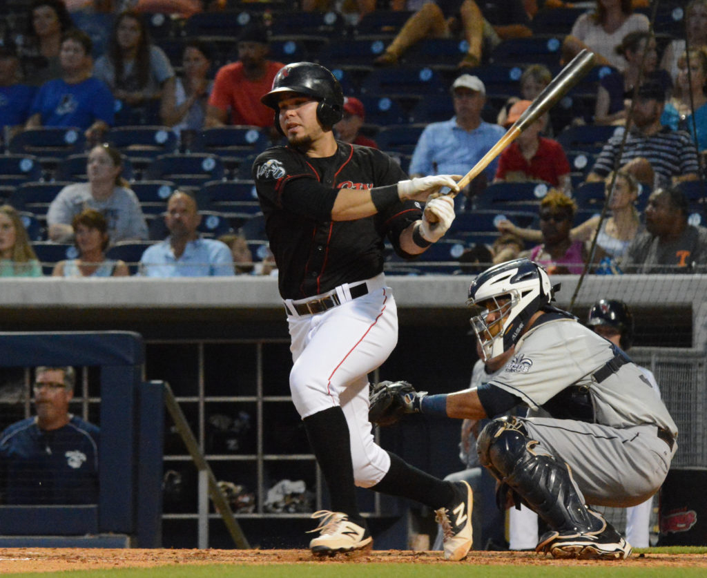 Renato Nunez had 5 RBI's for the Sounds - File Photo by Maggie Pope