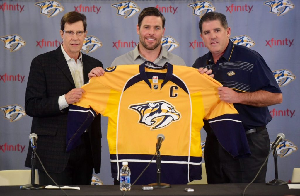 Predators General Manager, Captain Mike Fisher, and Head Coach Peter Lafoilette - Photo by Mike Strasinger