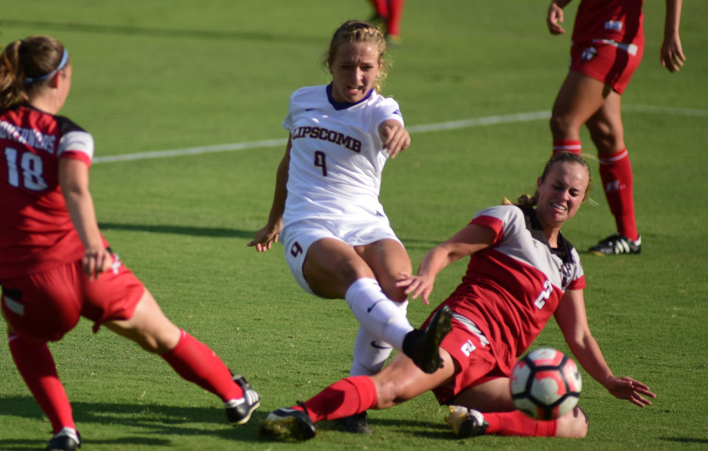 scores the first of her two goals against APSU