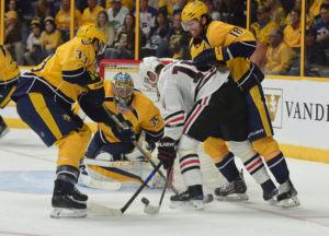 The Predators defense shut down the Blackhawks  in the 2nd and 3rd period.