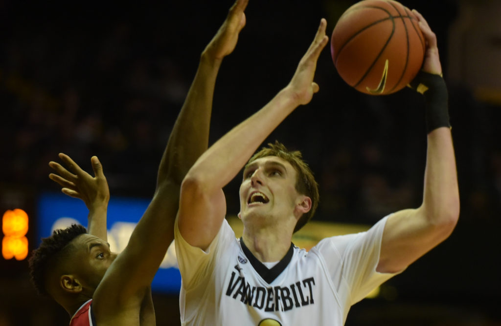 Vanderbilt's Luke Kornet led all scorers with 20 points as the Commodores beat Belmont 80-66. Photos by Mike Strasinger